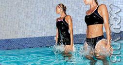Fitnesstraining im Wasser aquaris schwimmschule innsbruck